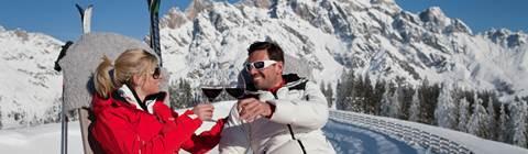 Ski- und Weingenuss mit Gondeldinner