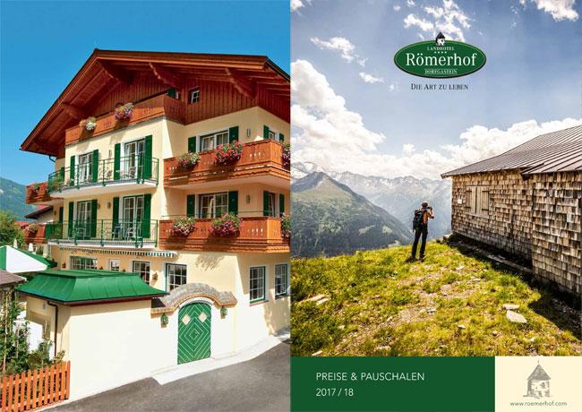 Cover der Hauszeitschrift im Landhotel Römerhof