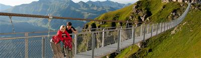 Hängebrücke in den Alpen